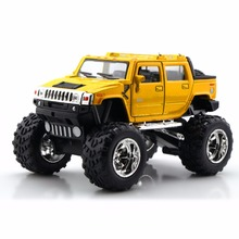 1:40 Diecast Metal Truck Toys, Simulation Hummer H2 SU7 Cars Models, Educational & Learning Toy Cars, Kids Toys / Brinquedos(China)