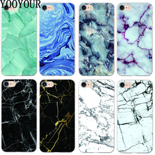 yooyour Marble pattern Transparent hard plastic  Case For Apple iphone 4 4s   5 5s SE 5c  6 6S 6PLUS 7 7PLUS