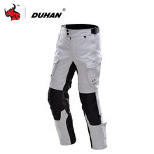 DUHAN Men's Sports Riding  Motorcycle Pants Casual Pants Men's Motorbike Motocross Off-Road Knee Protective Waterproof Pants(China)