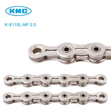 Original K-X11SL-NP 2.0 KMC 11 Speed Chain Silver for Trekking 116 Links Super Light Nickel Plated 11S Chain + Missing Link(China)