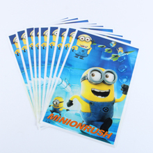 20pcs/lot Double-Faced Minion Gift Bag Party Decoration Plastic Candy Bag Loot Bag For Kids Birthday/Festival Party Supplies(China)