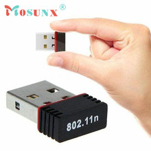 mosunx Hot Selling Wireless 150Mbps USB Adapter WiFi 802.11n 150M Network Lan Card Gift 1pcs Nov 16