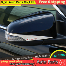 DY_L For Toyota Camry Rearview mirror chrome trim car styling 2015 2016 For Camry Mirror stickers Car Special high-quality ABS