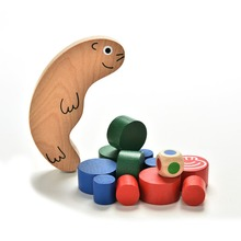 1Pc New Kids Baby Early Training Educational Snail Balance Stacking Game Wooden Toy