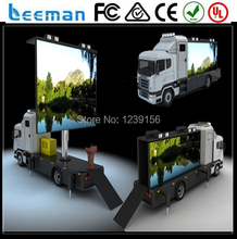 2015 Leeman innovative new design products mobile truck LED tv screen for sale mobile truck advertising