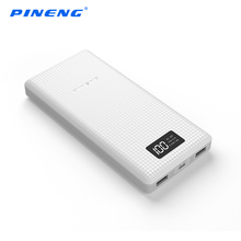 Pineng 20000mAh Power Bank Portable External Battery Pack Backup Charger LCD Dual USB Powerbank for iPhone Samsung S8 Xiaomi mi(China)