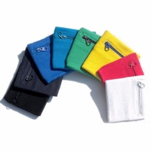 2Pcs Zip Wrist Support Braces Wallet Running Cycling Tennis Sports Protector Money Coin Bag 6 Colors for Choose