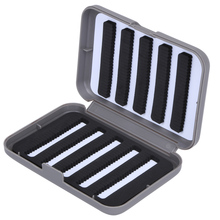 13x9x3.8cm ABS Plastic Foam Fly Fishing Tackle Lure Bait Hook Storage Plastic Fishing Tackle Box Fishing Baits Case Cover