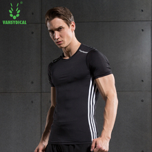 Men Compression Tights Shirt Running Run Fitness Exercise Training Sports Gym Soccer Football Shirts Jerseys(China)