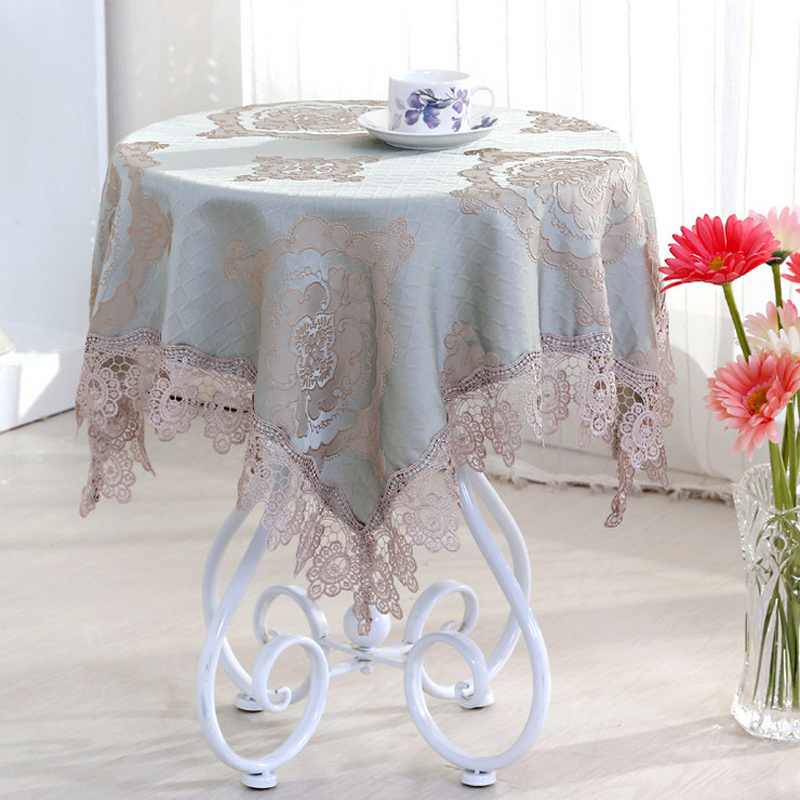 Europe Style High-grade Table Cloth For Weddings Toalhas De Mesa Bordada Round Tablecloths Lace Floral Table Cover Home Textile(China)