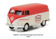 Green Light 1:64 Texaco - 1975 Volkswagen Type 2 Panel boutique alloy car toys for children kids toys Model original box(China)