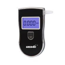 Patent LCD Professional Police Digital Breath Alcohol Tester Car Gadget Portable Breathalyzer AT818 with 5 Mouthpieces Dropship
