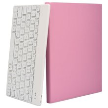 For Ipad Air 2 I pad Pro 9.7 Apple Macbook Tastiera Pink Wireless Keyboard Travel Case Mini Romantico PU Bluetooth 7 Lit Tabelt(China)