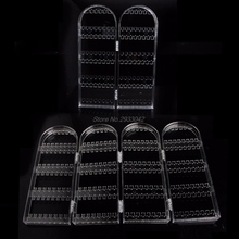 2/4 Doors Earring Jewelry Show Clear Plastic Display Rack Stand Organizer Holder-W128