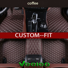 Veeleo+Custom Fit -6 Colors Leather Floor Mats for Toyota RAV4  2006-2011-Waterproof 3D Carpets Liner