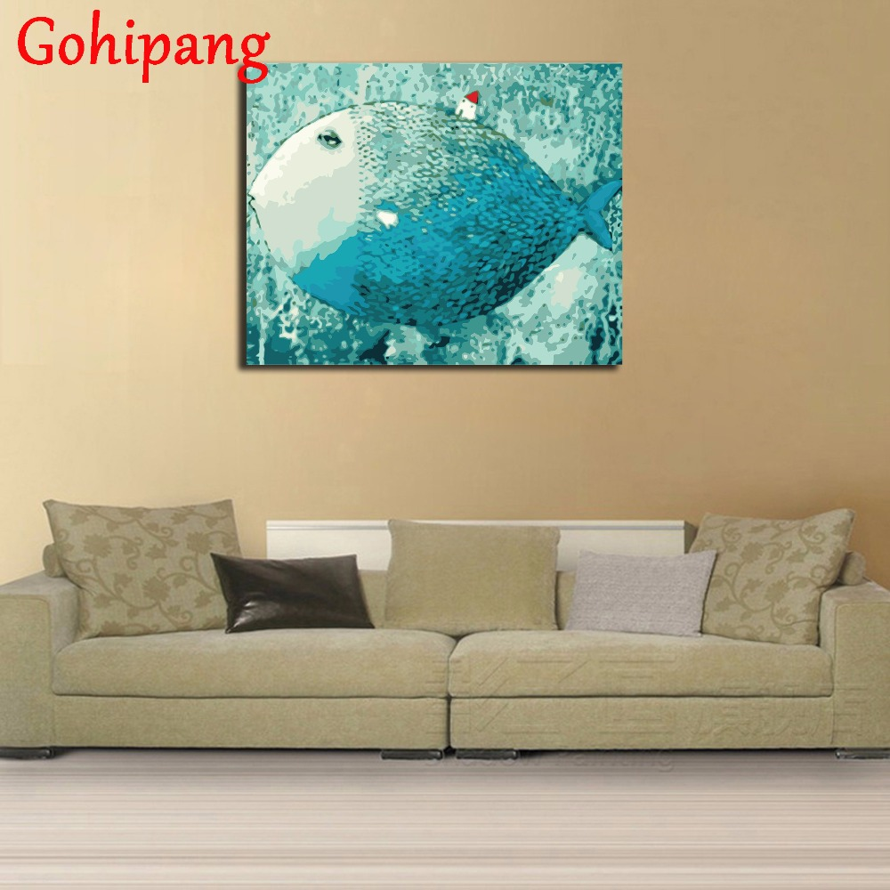 Bali Seaside House Wall Art Oil DIY Painting By Numbers On Canvas ...