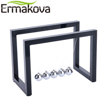 ERMAKOVA ABS Newton Cradle Physics Pendulum Science Newton's Cradle Art in Motion Balance Balls Wave Office Educational Toy