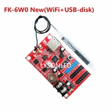 LYSONLED 5pcs/Lot FK-6W0 WIFI + USB-disk Wireless LED Control Card 1xT08 2xT12 Support 32 Pieces Single Color P10 LED Module(China)