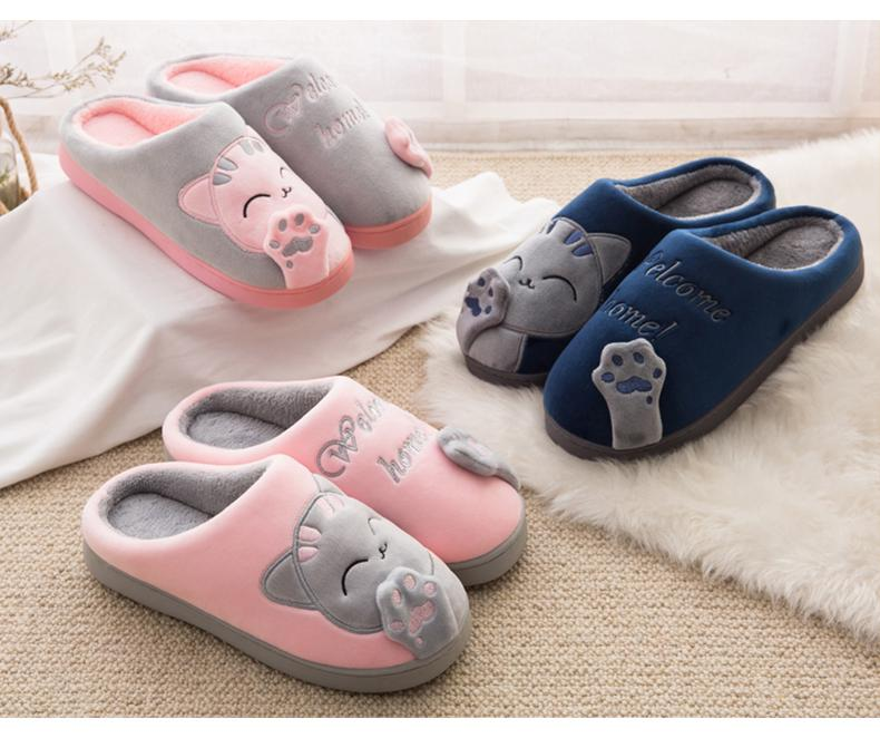 CUTE COZY CAT PAW SLIPPERS 2