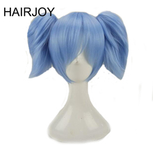 HAIRJOY Pink Blue Cosplay Wigs Synthetic Hair  Medium Straight Costume Wig with 2 Removeabe Ponytails 3 Coloes Available