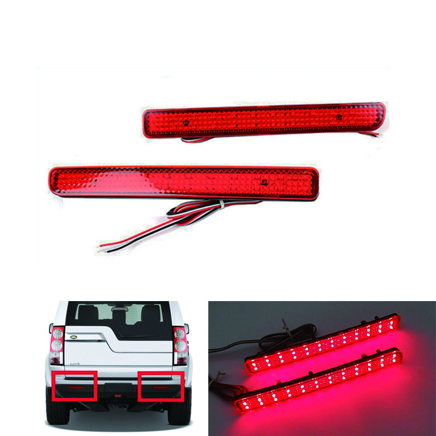 2PCS for Land Rover Range Rover Sport L320 Discovery 3 4 LR3 LR4 Car Rear Bumper Reflector Lamp LED Brake Light Red(CA183)<br><br>Aliexpress