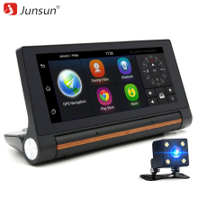 "Junsun E27 Car DVR GPS Camera 6.86"" Android 3G dash cam Video Auto recorder registrator with two cameras FHD 1080p black box"