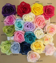 artificial flower heads,silk rose ,DIY wedding decorative wreath, kissing ball, flower wall,white red green purple navy pink