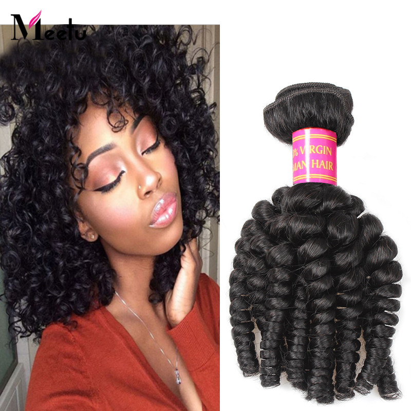 Indian Virgin Bouncy Curly Hair 7A Grade Natural Color Bouncy Curly Indian Virgin Human Hair Weaves 3Pcs Lot Indian Hair Weaves<br><br>Aliexpress