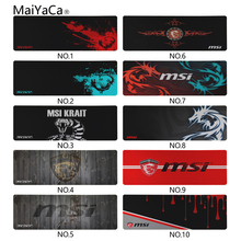 MaiYaCa Newest Design Msi Wallpaper Lockedge Mouse pad Gamer Large Size 300x900mm Computer Keyboard Mat Table Gaming Mousepad
