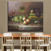 NO FRAME Home Printed fruit on desk STILL LIFE Oil Painting Canvas Prints Wall Art Pictures For Living Room Decorations(China)