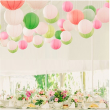 "6pcs 8""(20CM) Multi Color Chinese Lantern Wedding Lantern For Festival Party Wedding Room Decoration Showcase Decoration DIY(China)"