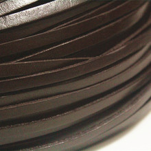 5mm Brown Real Flat Leather Cord, 15feet Genuine Flat Leather Stripe, Belt Bracelet Necklace Leather Cord Free Shipping