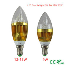 LED candle light E14 9W 12W 15W E14 Dimmable 110V 220V Led bulb lamp cool white / warm white CE ROHS(China)