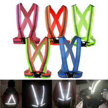 New Safe Reflective Vest Belt For Women Girls Night Running Jogging Biking(China)