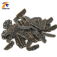 High Quantity 50pcs 30*22mm antique hinge metal printing small wooden gift box hinge 6 small holes box hinge(China)