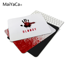 anti-slip mouse diy design bloody gamer pc large gaming laptop Red mouse pad black paint rubber mouse pad(China)