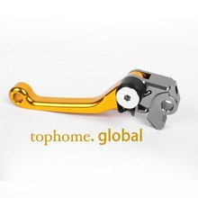 New Motorcycle Top Quality CNC Aluminum Pivot Dirt Bike Brake levers Golden Colour For Honda CRF450R 2004-2006 2005