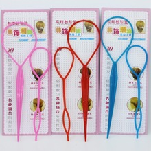 2pcs/set 10 Colorful Ponytail Creator Plastic Loop Styling Tools Tops Tail Clip Hair Braid Maker Styling Tool Fashion Salon