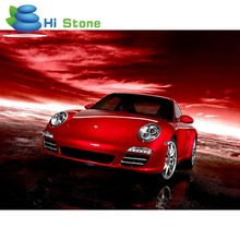 Home Decoration 5d Diy Diamond Painting Cross Stitch Red Coupe car Diamond Embroidery Crystal Full Round Diamond Mosaic 70142(China)
