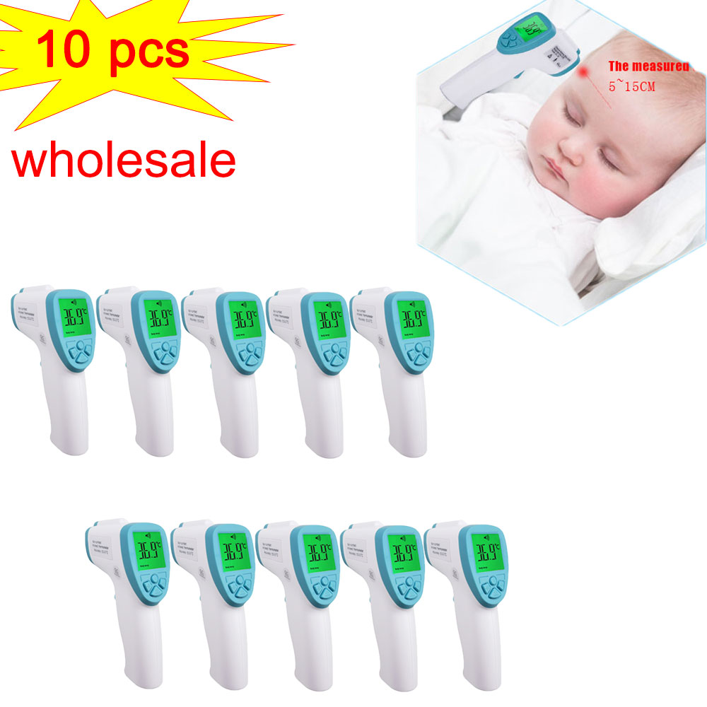 10/8/6pcs/lot Baby Thermometer Digital Body Temperature Fever Measurement Forehead Non-Contact Infrared LCD IR Thermometer