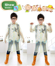 Polka Dot100% Original Cartoon Raincoat For Kids Waterproof Unisex Rain Poncho 2015 Luxury Lovely Kids Designer Rain Suit
