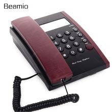 Fashion Wired Phone Corded Telephone Landline Desk Phone With Memory For Hotel Motel Home Bussiness Phones(China)