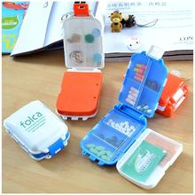 Creative Pill Storage Box Compact Portable 8 grid fold Kit Medicine Box Drugs for Travel 2C(China)