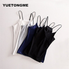 YUETONGME Crop Top Women Camisole Dill Tank Top Female Cropped Feminino Tops Women's Black Camis Short Tops Vest Cropped BTL115