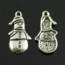 Buy 15pcs Snowman Pendant Charms Jewelry Making Antique Bronze Antique Silver Snowman Charms Charm Christmas Snowman 25x12mm for $1.19 in AliExpress store