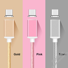 Magnetic Charger For Micro USB Type C Nylon Braided Magnet Fast Charge Data Cable for Android Iphone Xiaomi Sumsang Mobile Phone