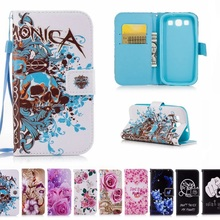 Art painting Leather Flip Wallet Soft Case For Samsung Galaxy S3 Neo S 3 Cover GT i9300 i9301 I9300I i 9300i 9300 9300i Cases