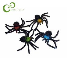 10*17cm Halloween Toys Simulation Spider Toys Tricky Scary Prank Gift Model Strange New Toy funny WYQ(China)