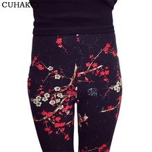 Hot 2017 Print Flower Leggings Leggins Plus Size Legins Guitar Plaid Thin Pant Fashion Women aptitud Trousers K092