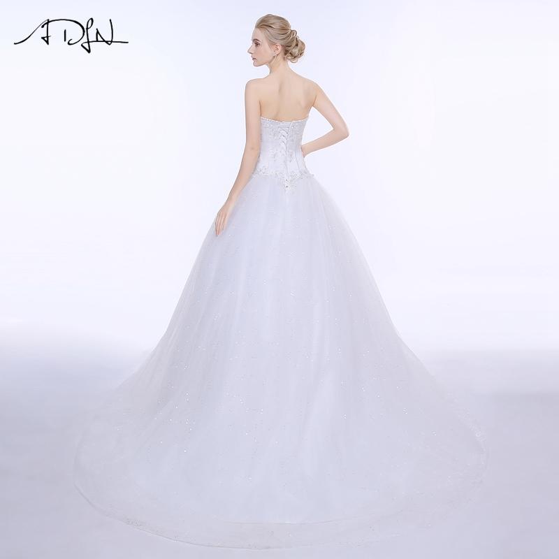ADLN Wedding Dresses Vestidos de Novia Off the Shoulder Sweetheart Tulle Long Bride Dress Lace Up Back Plus Size In Stock 13